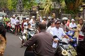 Traffic jam in Bali — Stock Photo