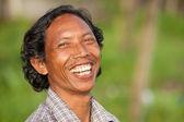Happy balinese man — Stock Photo