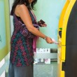 Woman at ATM — Stock Photo #10286760