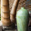������, ������: Vase and bamboo
