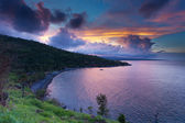 Sunset in Amed bay — Stock Photo