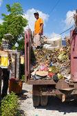 Garbage pickup — Stock Photo
