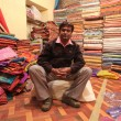 Textile shop owner — Stock Photo