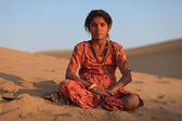 Rajasthani girl — Stockfoto