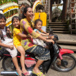 Stock Photo: Family on motorcycle