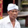 Traditional Balinese pilgrim — Stockfoto