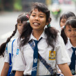Balinese school kids — Stock Photo