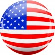 Royalty-Free Stock Vector Image: North American USA flag and button