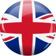 Flag of England United Kingdom button - Stock Vector
