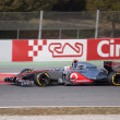 Jenson Button (GBR) McLaren MP4-27 - 3th Testing days Barcelona — Stock Photo