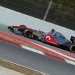Постер, плакат: Jenson Button GBR McLaren MP4 27 join pit line 3th Testing d