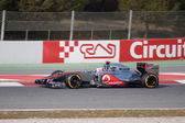 Jenson Button (GBR) McLaren MP4-27 - 3th Testing days Barcelona — Stock Photo