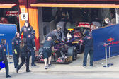Daniel Ricciardo join the box Barcelona — Stock Photo