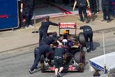 Daniel Ricciardo join the box — Stock Photo
