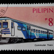 Stock Photo: Post stamp Philippine train