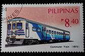 ポスト スタンプ フィリピンの鉄道 — ストック写真