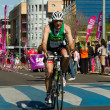 Cyclist from duathlon in Toledo - Stockfoto