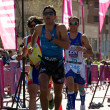 Race runners, I duathlon Toledo - Stockfoto