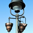 Damaged street lamp - Stock Photo