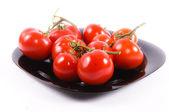 Tomatoe plate — Stock Photo
