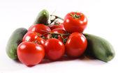 Cucumber and tomatoe — Stock Photo