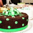 Stock Photo: Chocolate green cake