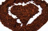 咖啡的心 — 图库照片