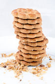 Tower of cookies — Stock Photo
