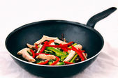 Vegetables on a frying pan — Stock Photo