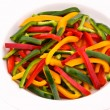Sliced peppers — Stock Photo