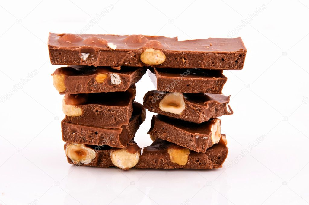 Chocolate with whole nuts  Stock Photo #9819648