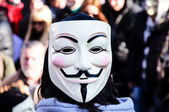 Anonymous protest — Stock Photo