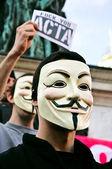 ACTA protest — Stock Photo