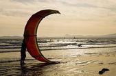 Kitesurfing — Stock Photo
