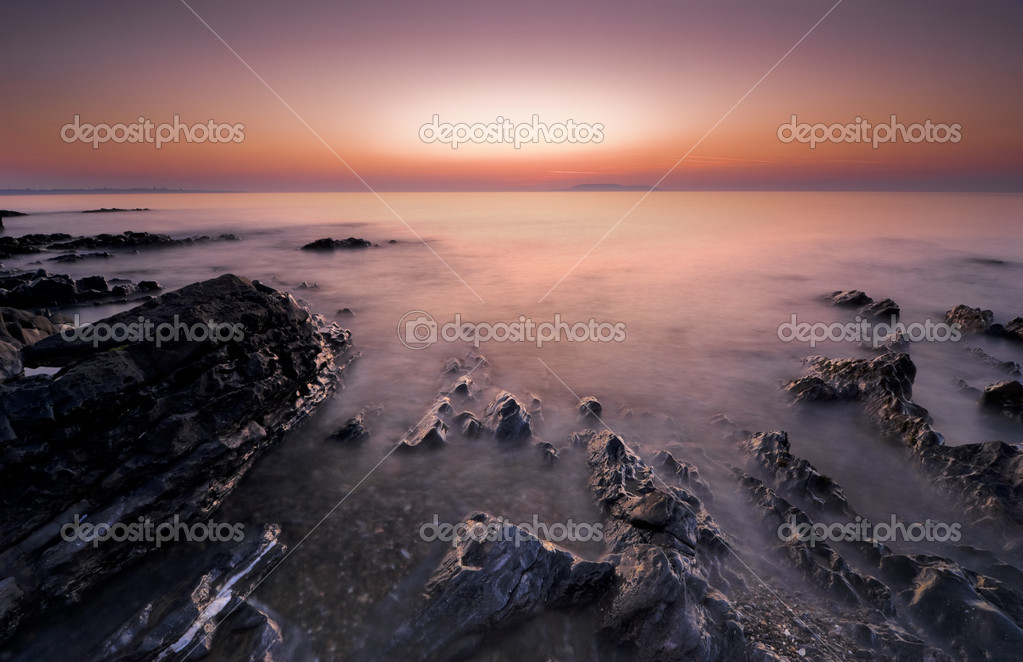 Irish sunrise in Malahide long exposure  Stock Photo #10352430