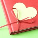 Blank Heart with Diary — Stock Photo