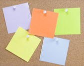Colorful sticky notes — Stock Photo