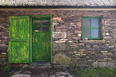 Historic Cottage Door and Window — Stock Photo