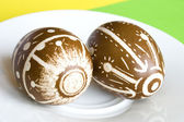 手工制作复活节彩蛋 — 图库照片