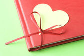 Blank Heart with Diary — Stock Photo