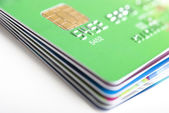 Credit Cards Stack — Stock Photo