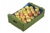Caja de manzanas — Foto de Stock