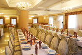 Wedding reception interior — Stock Photo