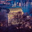 Fairmont Grand Hotel (at night) — Stock Photo