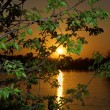 April sunset over the river Dnieper — Stock Photo #10336857