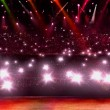 Red flash light and spotlight in concert — Stock Photo