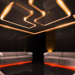 Orange electronic luxury room — Stock Photo
