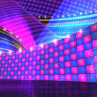 Stock Photo: Disco stage set checker d