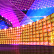 The disco stage set orange — Stock Photo
