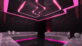 Pink electronic luxury room — Foto Stock